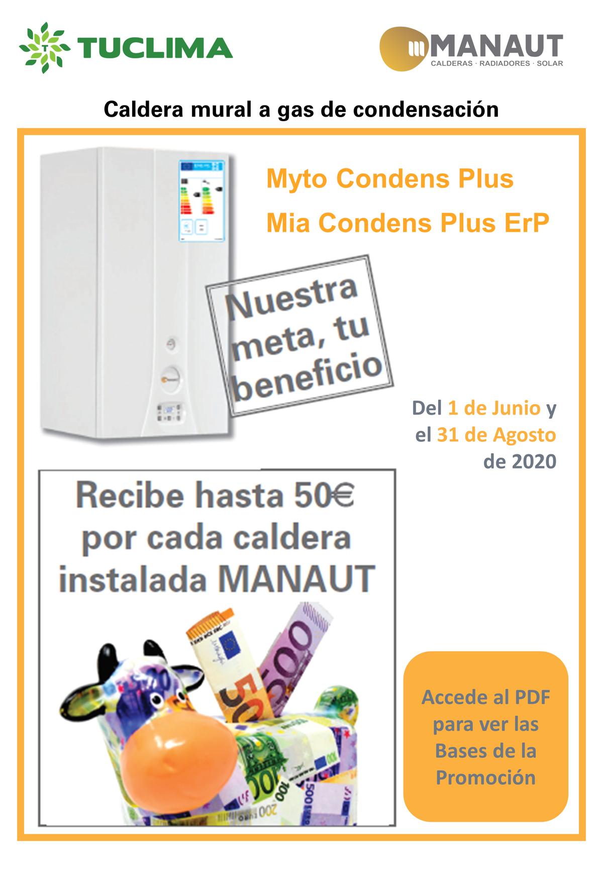 ¡Hasta 50€ por cada Caldera de Manaut que instales!