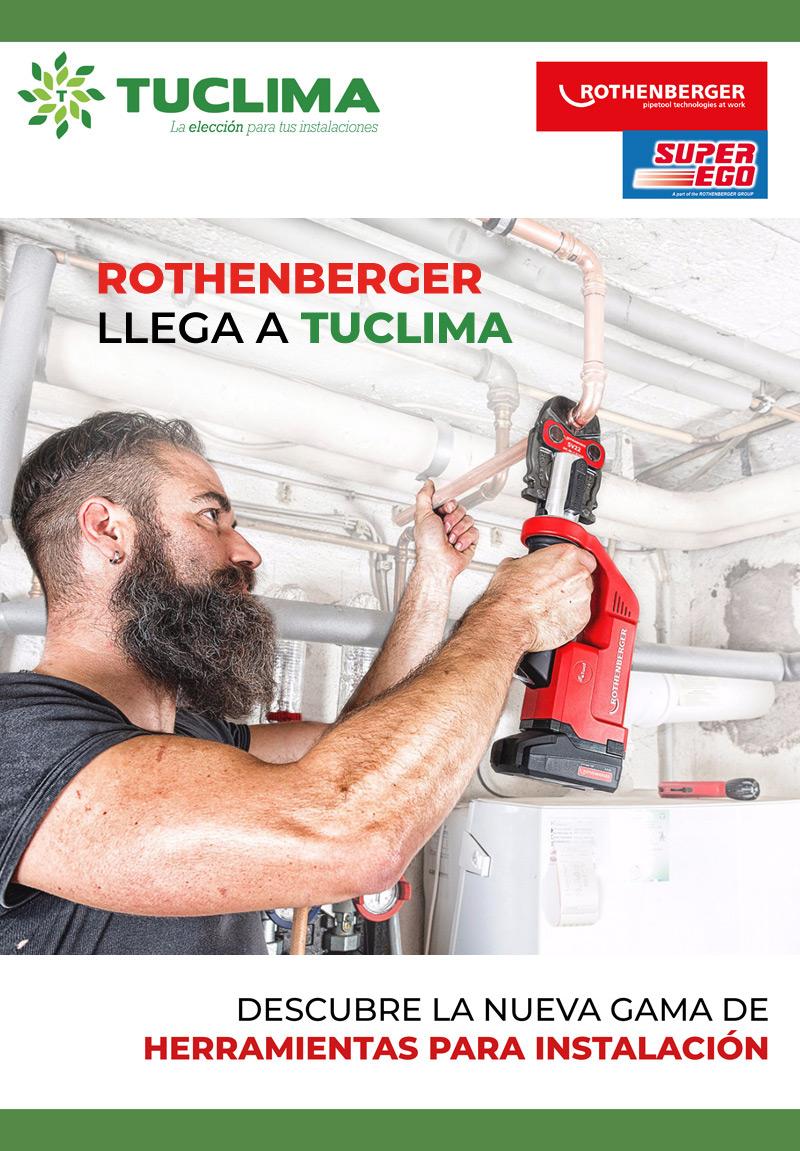 ¡Rothenberger llega a Tuclima! Hemos incorporado una nueva línea de Herramientas de Instalación, con la calidad y garantía de Rothenberger.