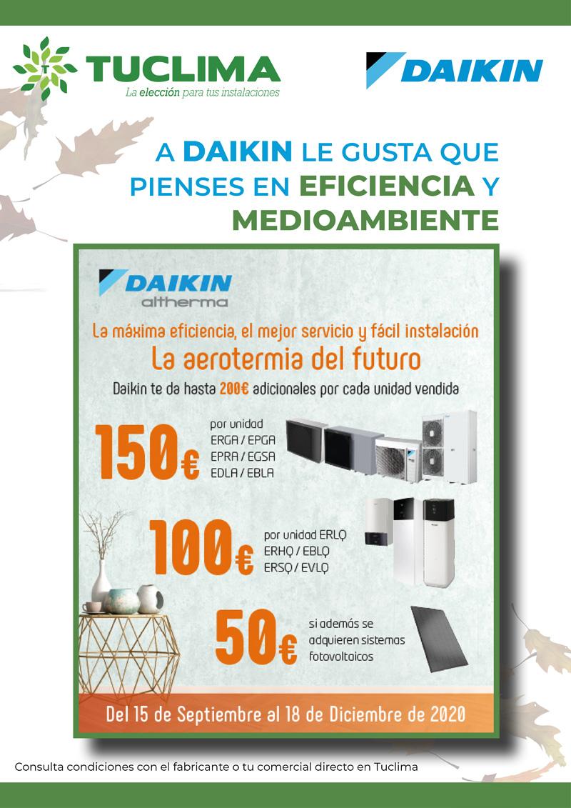 Daikin valora que te comprometas con la eficiencia energética y el medioambiente