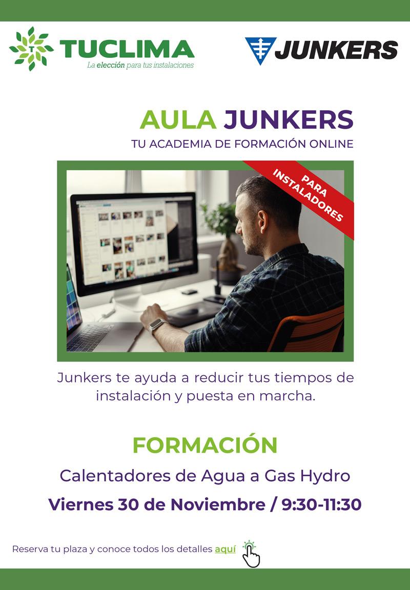 ¡Fórmate en los nuevos calentadores de gas Hydro de Junkers!
