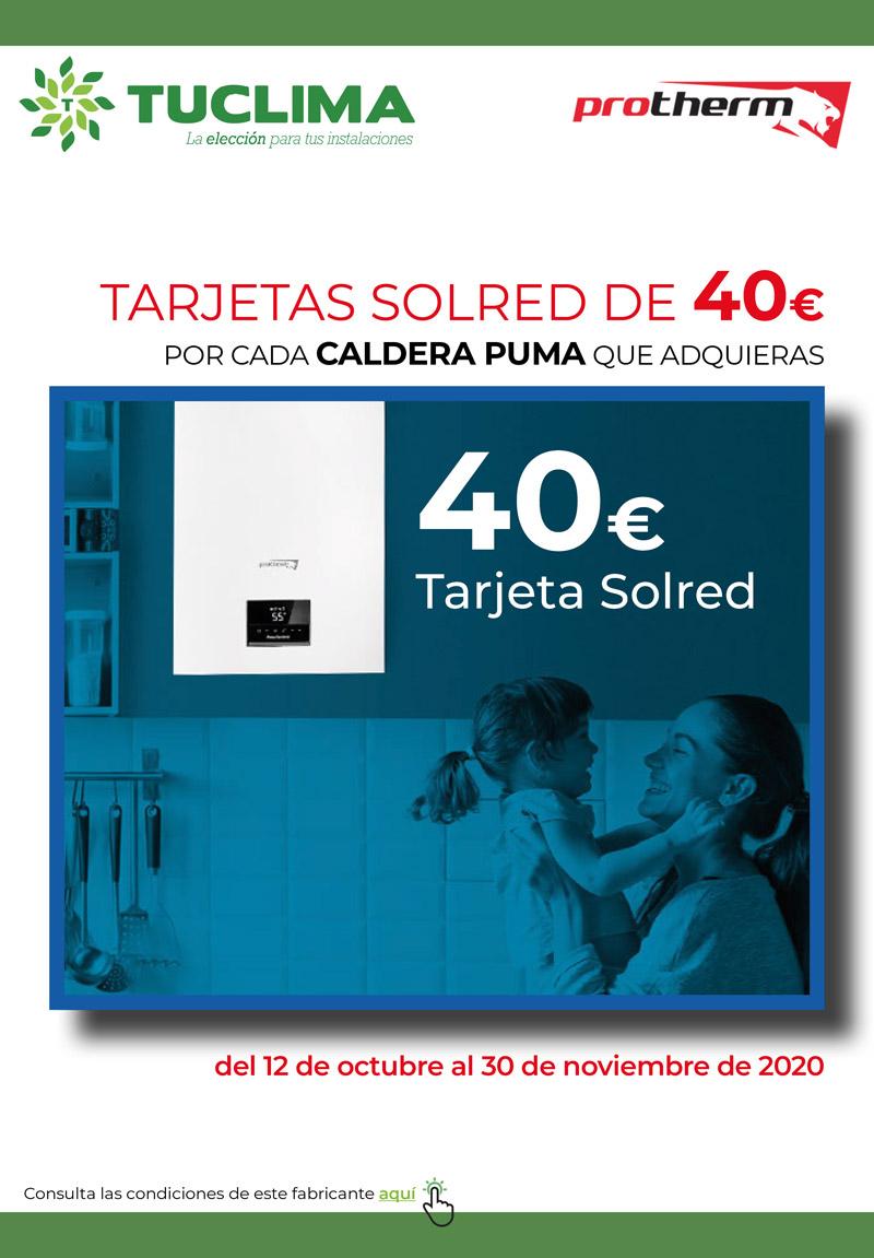 ¡40€ por cada caldera Puma que adquieras en Tuclima!