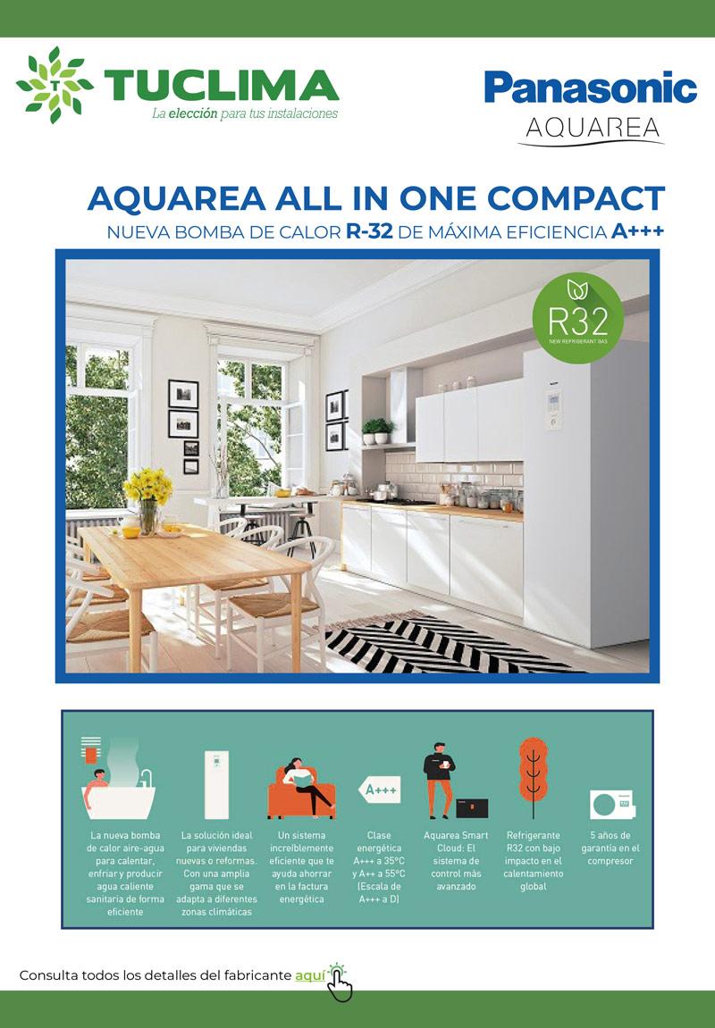 Nueva Aquarea All-in-One Compact: La Aeortermia de Máxima Eficiencia